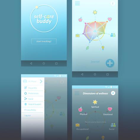 UI/UX: Self-Care Buddy