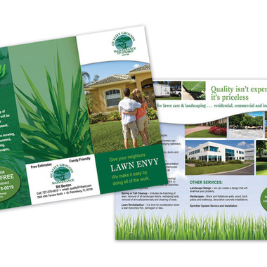 QUALITY GROUNDS BROCHURE DESIGN AND PRINT