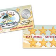 LULUS BEACH HOUSE CAFE BUSINESS CARD DESIGN AND PRINT