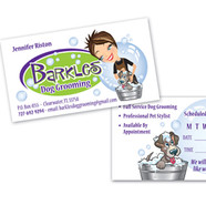BARKLES DOG GROOMING LOGO AND BUSINESS CARD DESIGN AND PRINT