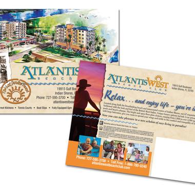 ATLANTIS WEST POST CARD DESIGN AND PRINT