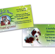 PLAYFUL PAWS BUSINESS CARD DESIGN AND PRINT