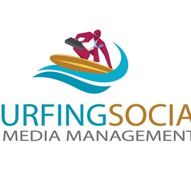 SURFING SOCIAL LOGO DESIGN