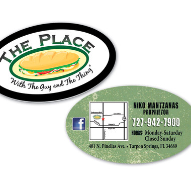 THE PLACE BUSINESS CARD DESIGN AND PRINT