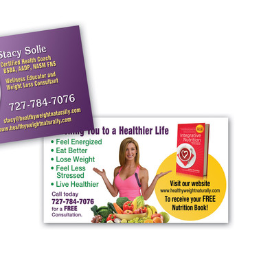 HEALTHY WEIGHT NATURALLY BUSINESS CARD DESIGN AND PRINT