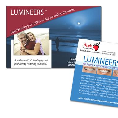 APPLE DENTAL LUMINEERS POST CARDS