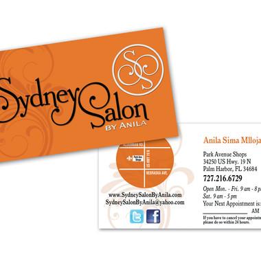 SYDNEY SALON BY ANILA BUSINESS CARD DESIGN AND PRINT