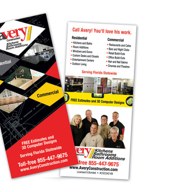 AVERY CONSTRUCTION RACK CARD - DESIGN AND PRINT
