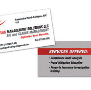 RED FLAG MANAGEMENT BUSINESS CARD DESIGN AND PRINT