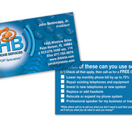 JHB TELEPHONE SERVICES BUSINESS CARD DESIGN AND PRINT