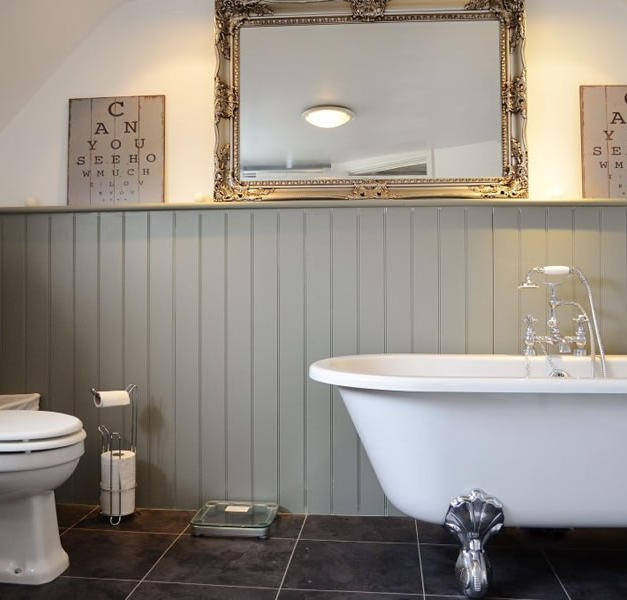 Bathroom with joinery.