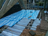 First floor pipe routing