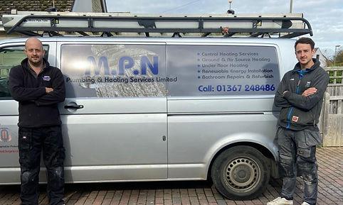 MPN company van and staff