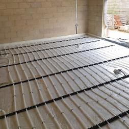 Underfloor pipe layout.