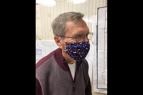 CDC Compliant Mask - Elastic Loops & With Filter Pocket