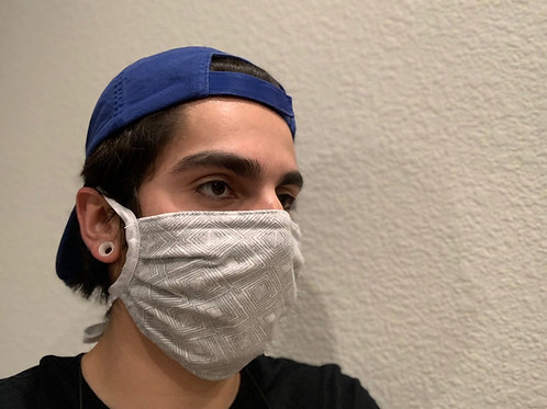 CDC Compliant Mask - Ties & No Filter Pocket