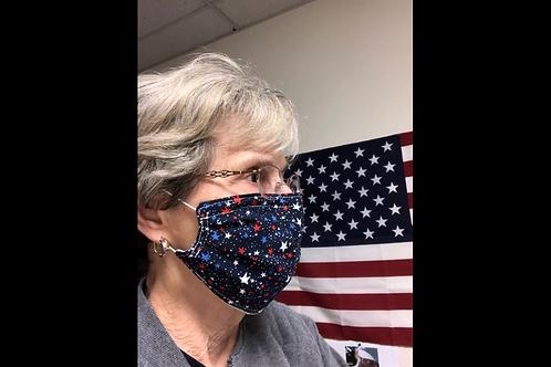CDC Compliant Mask - Elastic Loops & No Filter Pocket