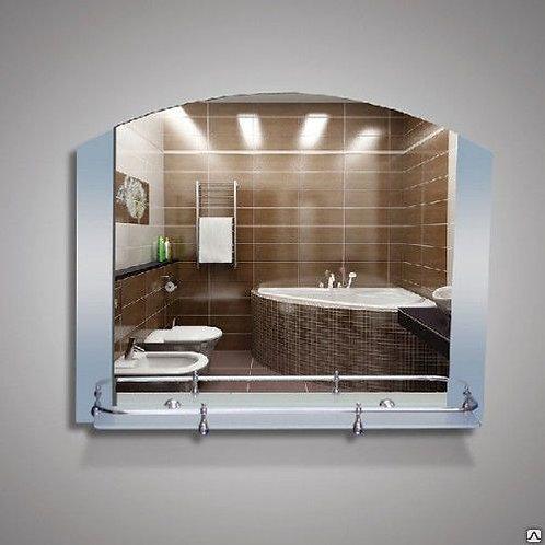 Зеркало 46131в  с матированное + полка 60 см пластиковым бортиком