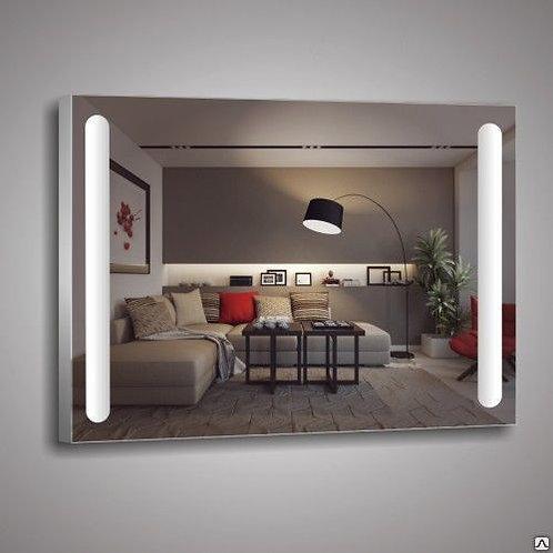 Зеркало 384 с LED подсветкой, с кнопочным выключателем 3840706