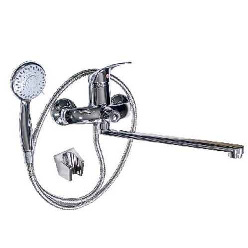 MAYFAIR - Смеситель в ванную длинный нос шаровый с дивертором на корпусе,  87118