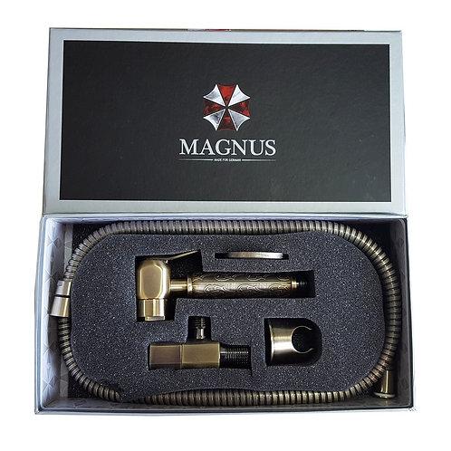 MAGNUS - Набор бидэ : шаровый кран + лейка + шланг MAGNUS зеленый, 2052