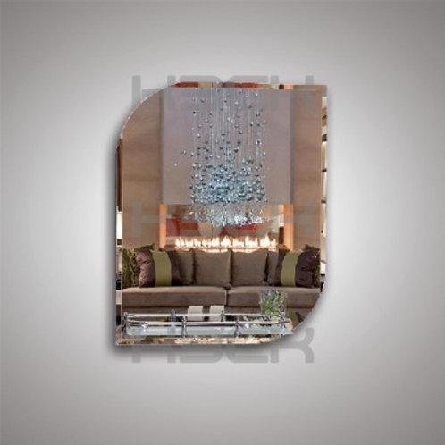 Зеркало 46814в с фацетом + полка 40 см пластиковым бортиком