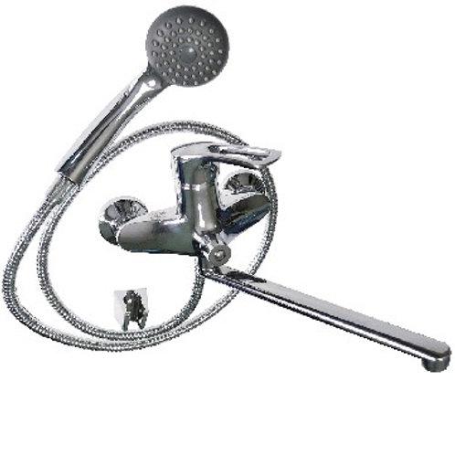 BRIMIX 3506-2 Смеситель в ванную длинный нос с дивектором на корпусе шаровый