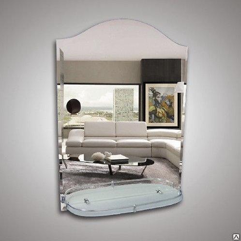 Зеркало 46101 с фацетом + полка 52 см латунным бортиком