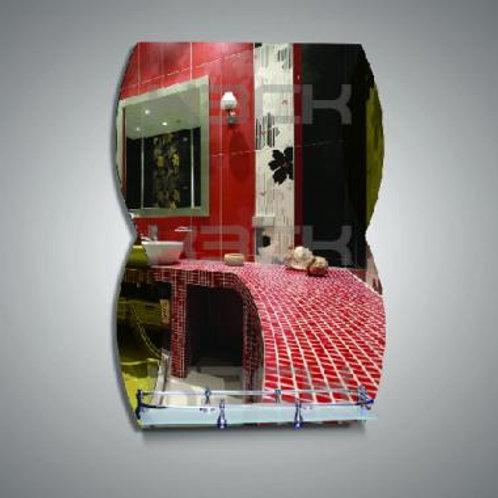 Зеркало 46221в, бронзовые вставки, полка 40 см с пластиковым бортиком