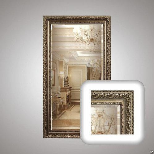 Зеркало в багетной раме с фацетом 35690905Ф