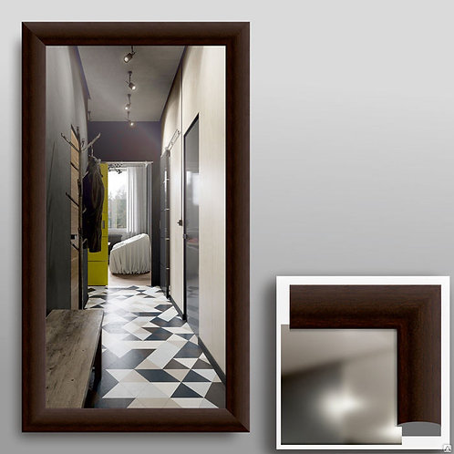 Зеркало 45303 в  рамке МДФ  венге
