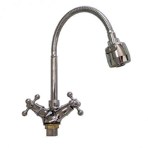 MYFAIR - Смеситель кухонный эластичный гусак металлокерамика, 755