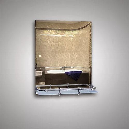 Зеркало 46112в + полка 40 см пластиковым бортиком