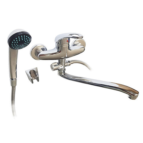 STELS - Смеситель в ванную длинный. нос шаровый 7308