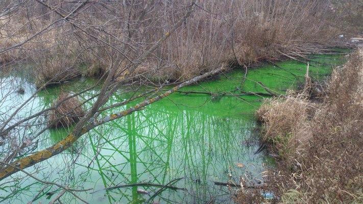 Сброс технической воды в реку