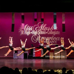 Studio 49 performing at the Miss Alaska Jr High/High School/Collegiate Pageant.