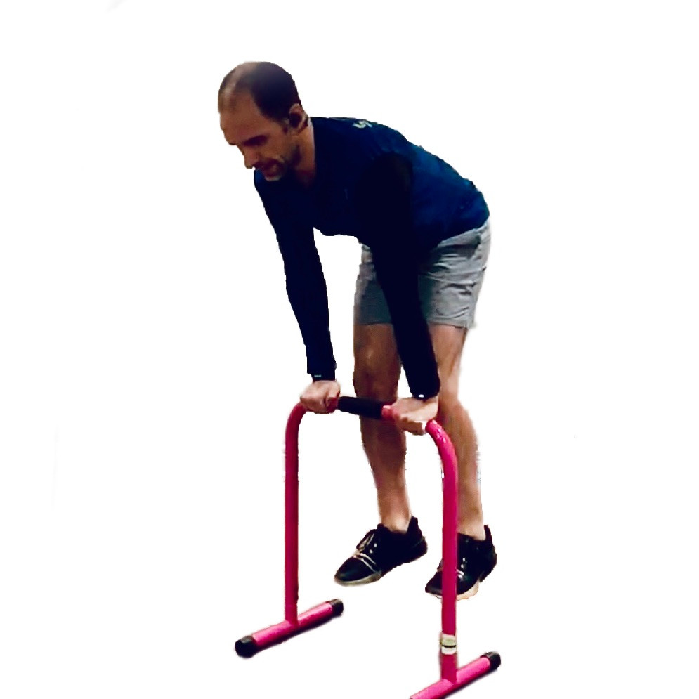 Equalizer Tricep Hop exercise.