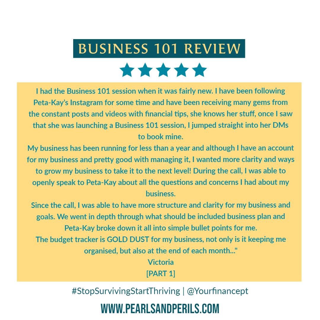 Business 101-Victoria pt 1