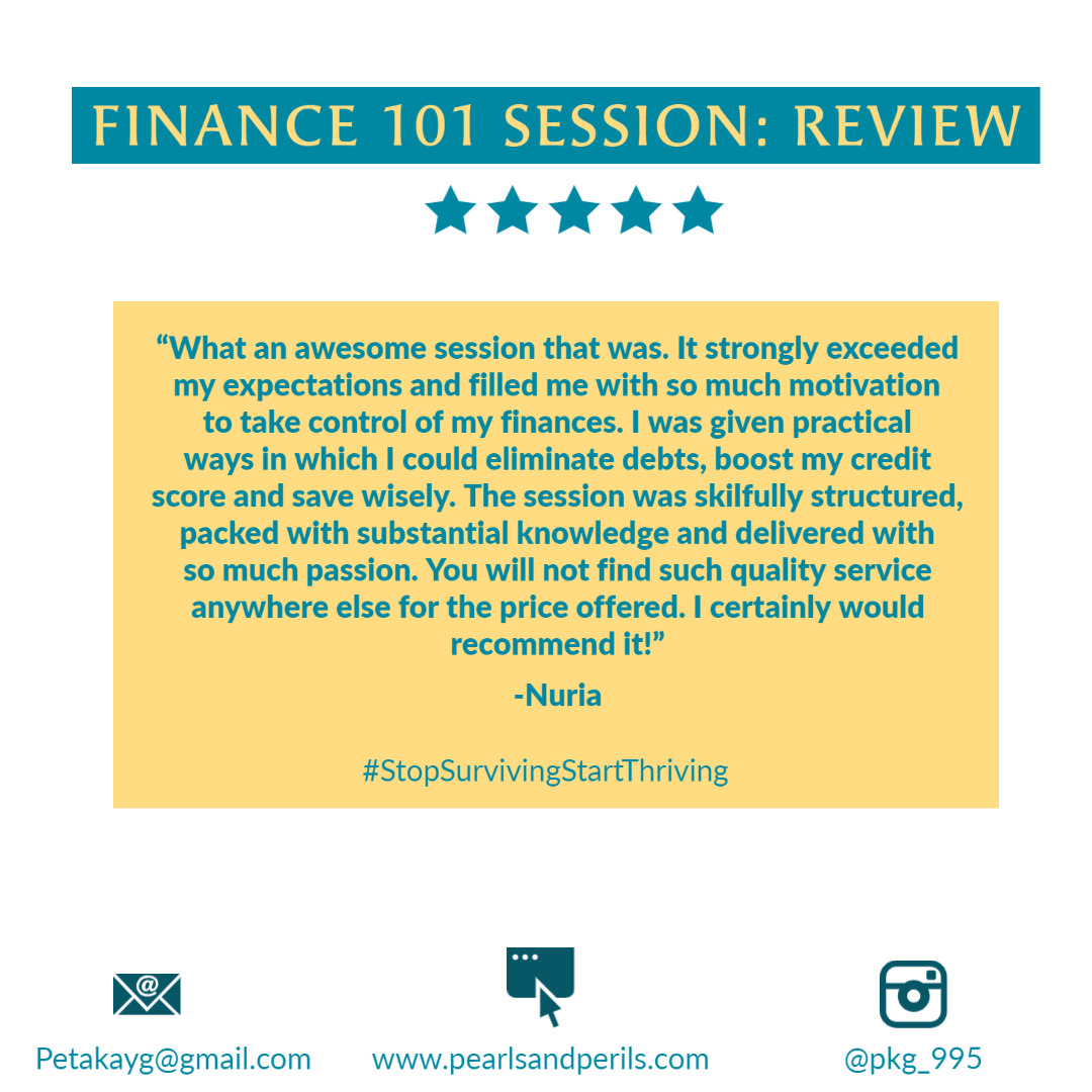 Nuria's Finance 101 review