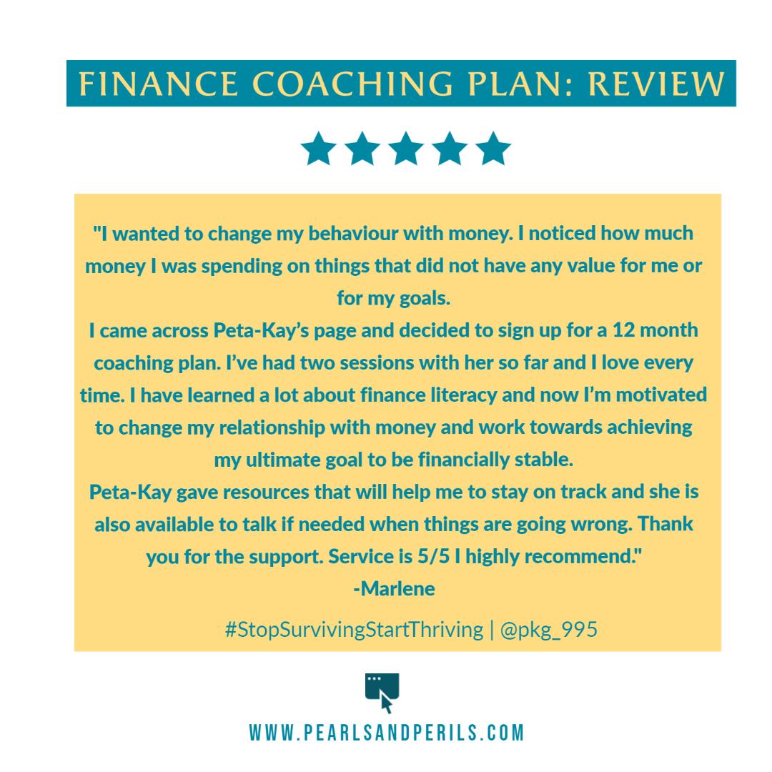 Marlene's Coaching plan review