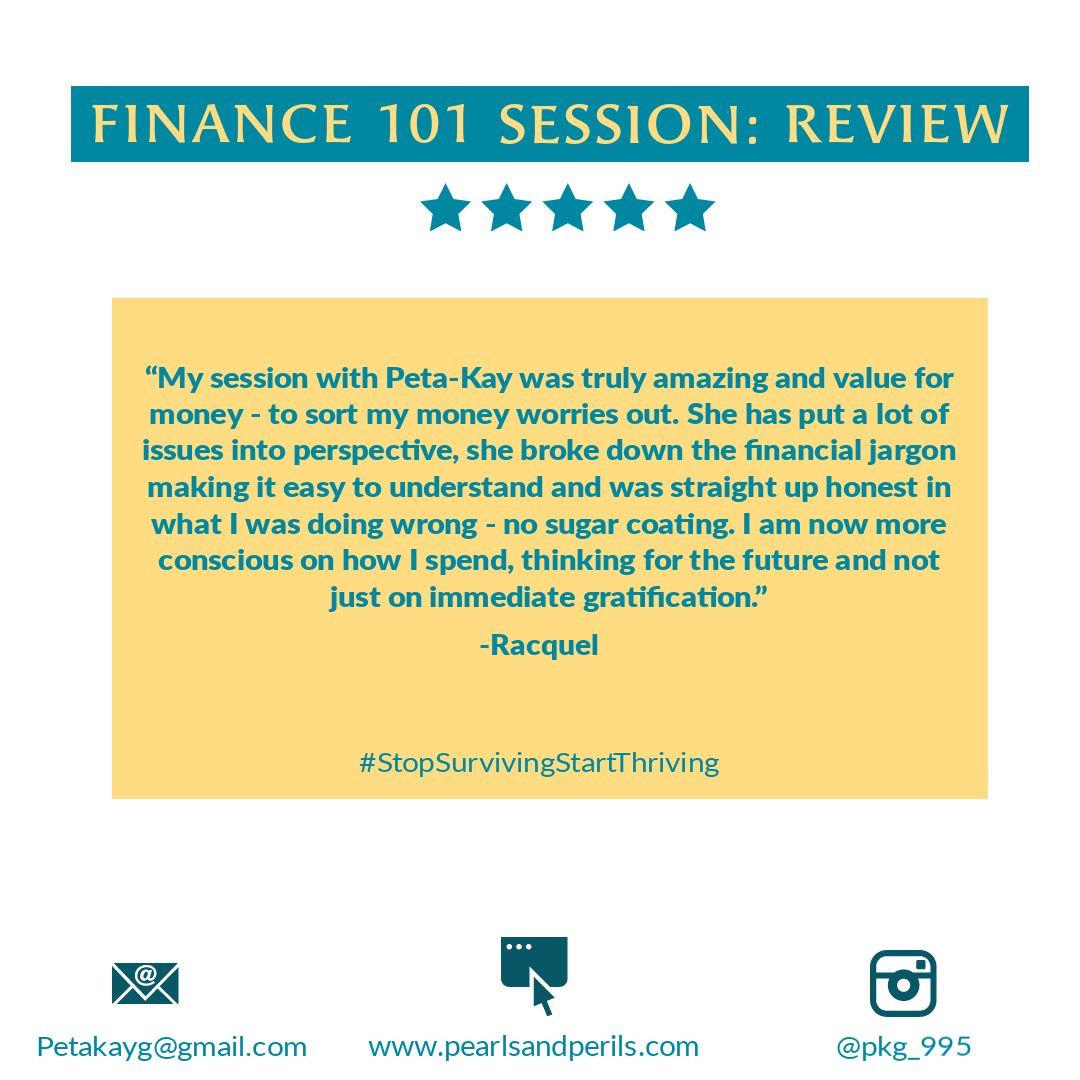 Racquel's Finance 101 review