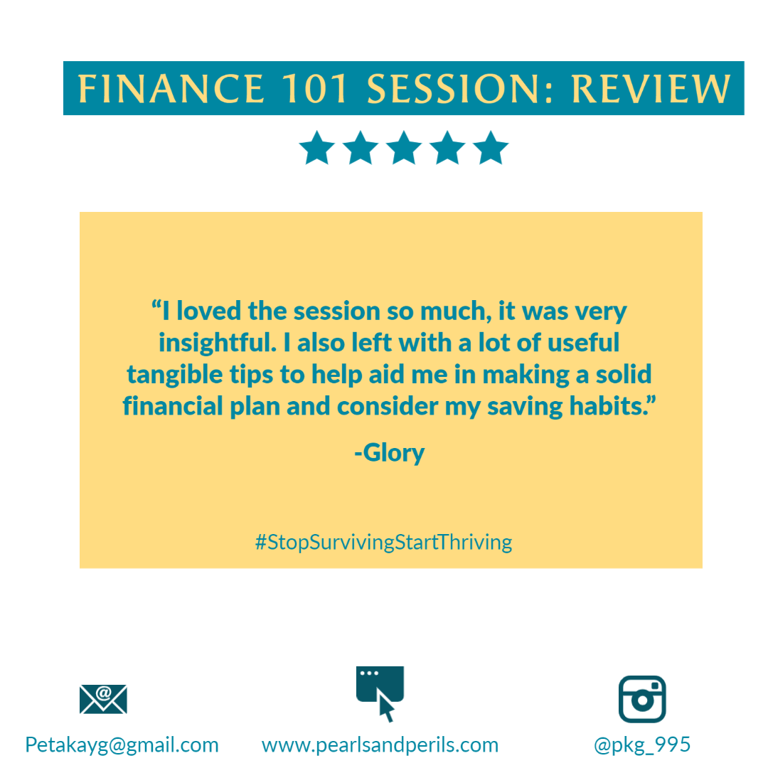 Glory's Finance 101 review