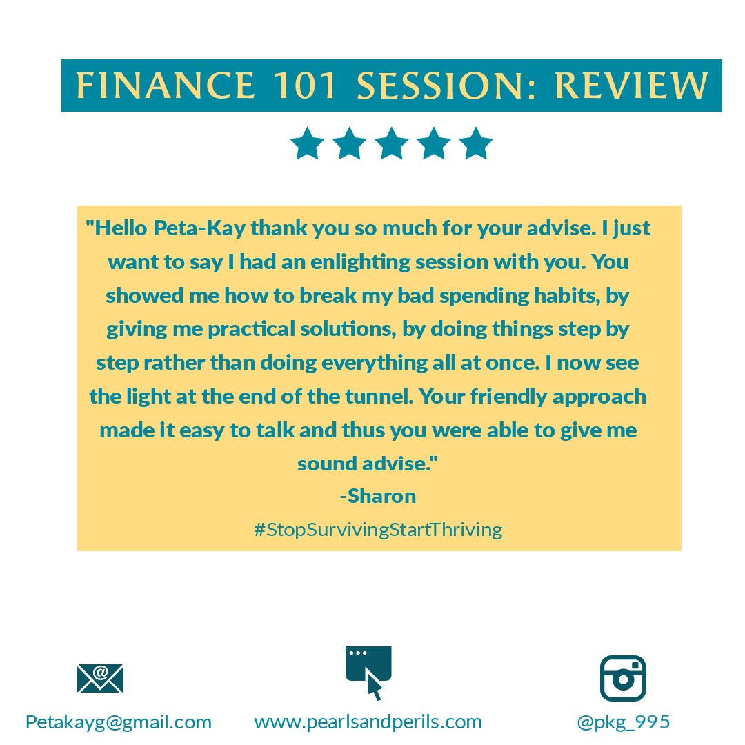 Sharon's Finance 101 review
