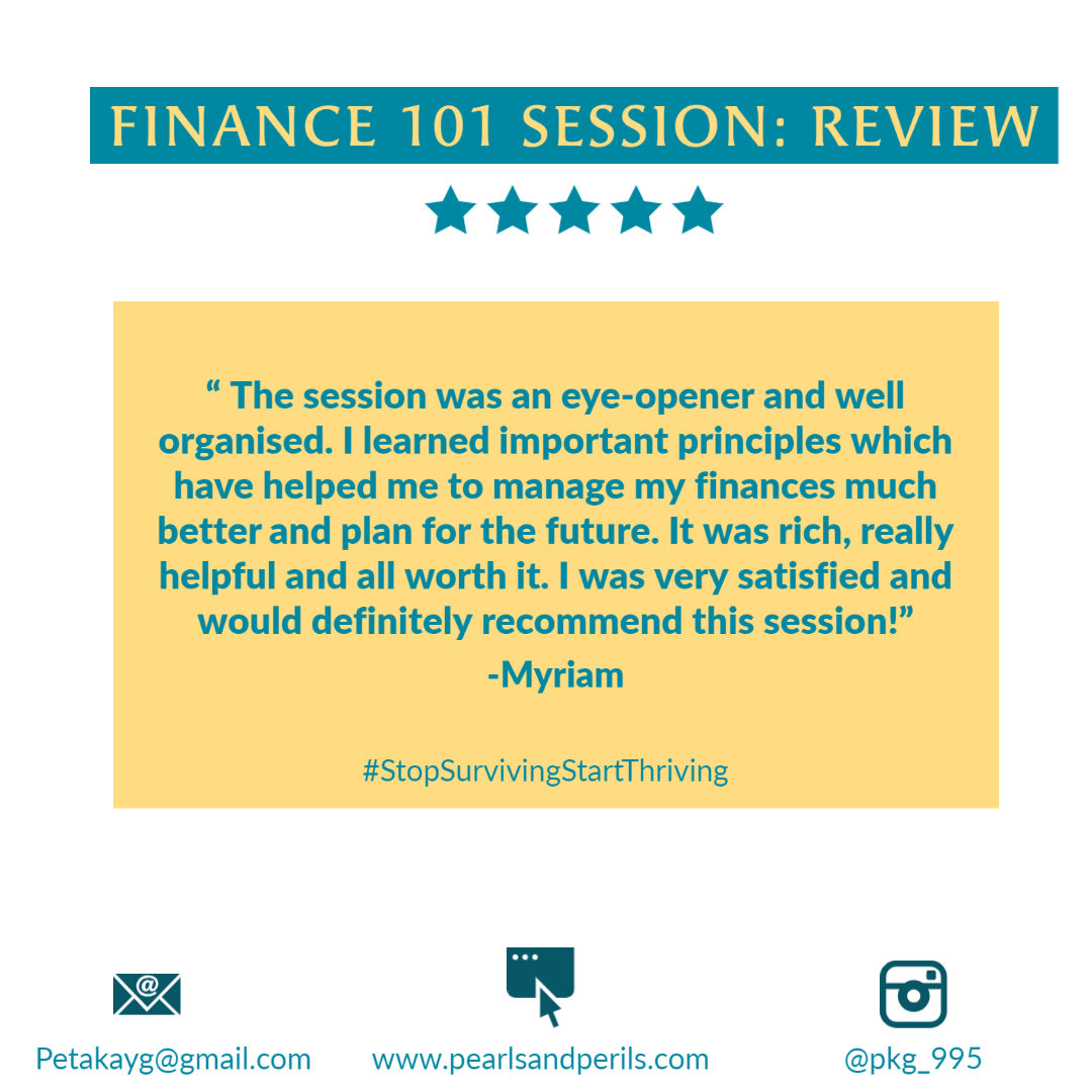 Myriam's Finance 101 review