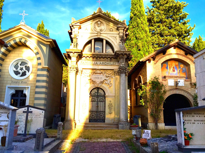 Satisfaction in a Spoleto Cemetery