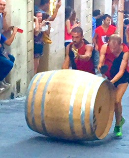 Wine Barrel Racing in Montepulciano