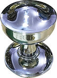 HANDCRAFTED CHROME PLATED MORTICE KNOB HCCK409