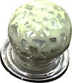 HANDCRAFTED CABINET KNOB WHITE CRACKLE GLASS COLLECTION