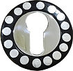HANDCRAFTED EURO ESCUTCHEON STEEL DOTS COLLECTION