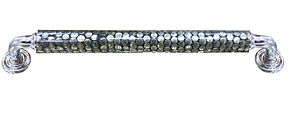 """HANDCRAFTED PULL HANDLE 12"""" STEEL DOTS COLLECTION"""